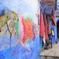 Blaue Stunde - in der Medina von Chefchaouen.
