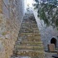 Archäologisches Museum Serpa - Aufgang zu den Stadtmauern.