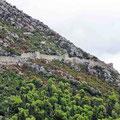 Ein Teil der 5,5 km langen Festungsmauer von Ston.