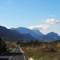 Herrliche Landschaft am Fuß der Pyrenäen.