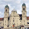 Frontansicht Kloster Einsiedeln.