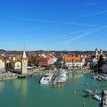 Lindau - Blick auf den Hafen vom Neuen Leuchtturm.