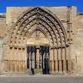 Lleida - Catedral Antigua, Seiteneingang zum Hof mit fantastischem Kreuzgang