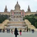 Blick auf das MNAC - das Museum für Katalanische Kunst.