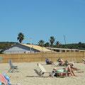 Die Strandbars machen alles winterfest - aber der CP hat noch Hauptsaison!