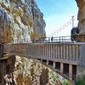 Caminito del Rey - alte und neue Brücke