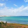 Auf der N16 entlang der Mittelmeerküste.