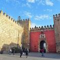 Sevilla - Eingang zum Alcazar.