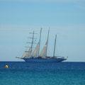 Tolle Seegeljacht auf der Fahrt nach St. Tropez.