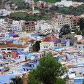 Blick auf die Medina Chefchaouen.