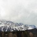 Zurück an der Talstation sehen wir nichts mehr vom Gipfel.