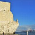 Das Padrão dos Descobrimentos (Denkmal der Entdeckungen) steht im Stadtteil Belém in Lissabon.