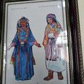 Musee de Meknes - Zeichnung Berbertrachten.