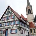 Fachwerkhaus in der Altstadt von Mönsingen.