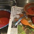 Tomatensaucenproduktion