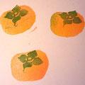 柿消しゴムハンコ