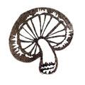しいたけ消しゴムハンコ Shiitake mushroom stamp