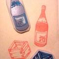 日本酒ハンコ(一升瓶と一合升)