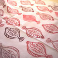 Making original TENUGUI ( thin Japanese hand towel made of cotton) with Flathead flounder rubber stamp アカガレイ消しゴムハンコてぬぐい