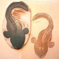 鳥取の冬の味覚の魚、タナカゲンゲ(ばばちゃん)ハンコ Lycodes tanakai Jordan and Thompson : Tanaka's eelpout