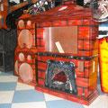 Rockola con estilo chimenea 36