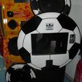 Rockola balon negro blanco 65