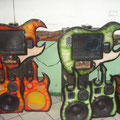 Rockola con estilo guitarra verde 84