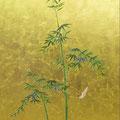 竹とスズメ