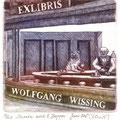 Kopcynska, Karina. Stettin/Polen. Radierung, 2012. Auflage 60. Blatt 175 x 165 mm. Platte 95 x100 mm. Darwin nach Edward Hopper
