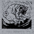 Graber, Maya, Luzern, Holzschnitt, 2010. Auflage 50. Blatt 170 x 160 mm. Platte 120 x 130 mm. Mein Mops Darwin. 001