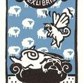 Küster, Heike. Wenzendorf. Gemütszustände eines Mopses. Holzschnitt. 2013. Auflage 50. Blatt 210x11 mm. Platte 180x95 mm
