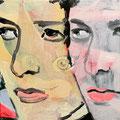 Double Dylan, 2020, 30 x 30 cm, Acryl auf Leinwand