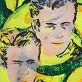 Schöne Männer und Avocados, 2020, 180 x 150 cm, Acryl auf Leinwand