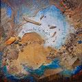VENDUE-Message à la mer 1-Mixtes sur toile galerie-8x8 pouces