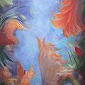 Élégance-Acrylique-16x50 pouces-Toile galerie