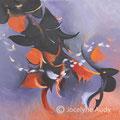 VENDUE-Effluves au soleil couchant - Acrylique sur toile galerie -12 x12 pouces