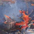 VENDUE-Le colibri - Acrylique et mixtes sur toile- 16 x20 pouces