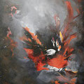 Naissance -Acrylique et mixtes sur toile - 30x40 pouces