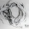 dessin au graphite sur papier canson