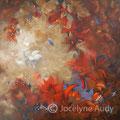 VENDUE-Vent d'automne - Acrylique sur toile galerie - 30x30 pouces 640.00