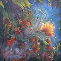 VENDUE-Jardin d'eden-Acrylique-Mixtes-30x40 pouces-Toile galerie