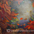VENDUE- Automne naissant - 40x30 pouces - Acrylique et mixtes sur toile galerie - VENDUE