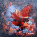 VENDUE-Papillon de nuit - Acrylique et mixtes sur toile -16x16 pouces