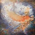 VENDUE-Message à la mer 2-Mixtes sur toile galerie-8x8 pouces
