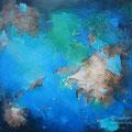 Envolée entre ciel et mer - Acrylique et médiums mixtes - 18x24 pouces