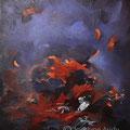 VENDUE-La couvée - Acrylique et mixtes sur toile - 24x30 pouces