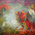 Éclat-Acrylique et mixtes sur toile galerie - 30x40 pouces