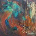 VENDUE-Bioluminescence-I- Acrylique et mixtes - 14x14 pouces