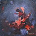 Collection personnelle-Gestation - Acrylique et mixtes sur toile - Encadrée - 12x12 pouces