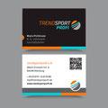Visitenkarten für die Firma Trendsportprofi, 2016